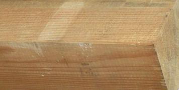 Holzes verändert sich im Laufe der Zeit durch Verwitterung