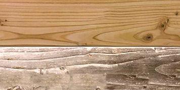 Holz Vergrauung