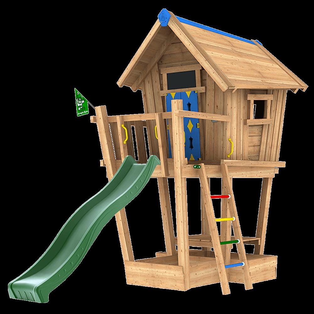 Bevorzugt Spielgeräte aus Massivholz für Ihren Garten | Jungle Gym QC64